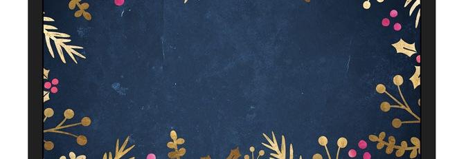 Free Festive Wallpaper: Foil Foliage