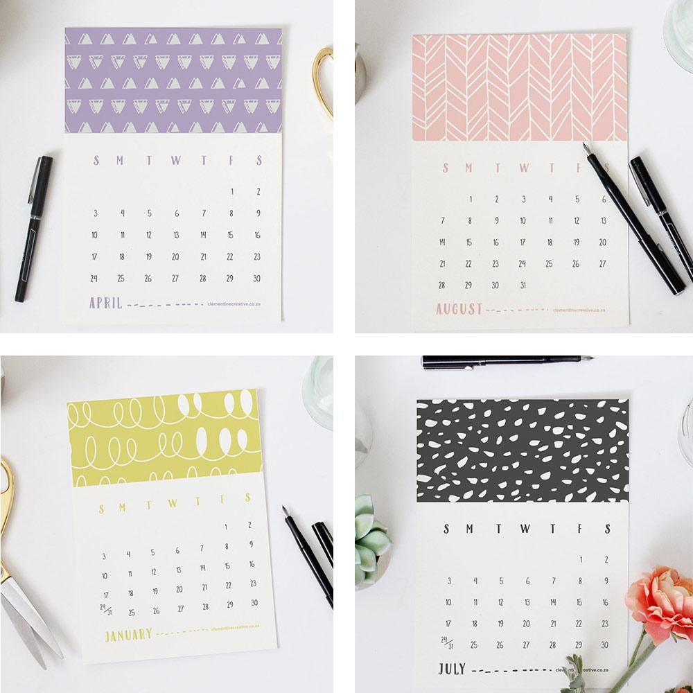 ... Printable Calendars / Printable 2016 Mini Calendar – Doodle Patterns