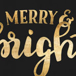 Free Festive Wallpaper: Merry and Bright