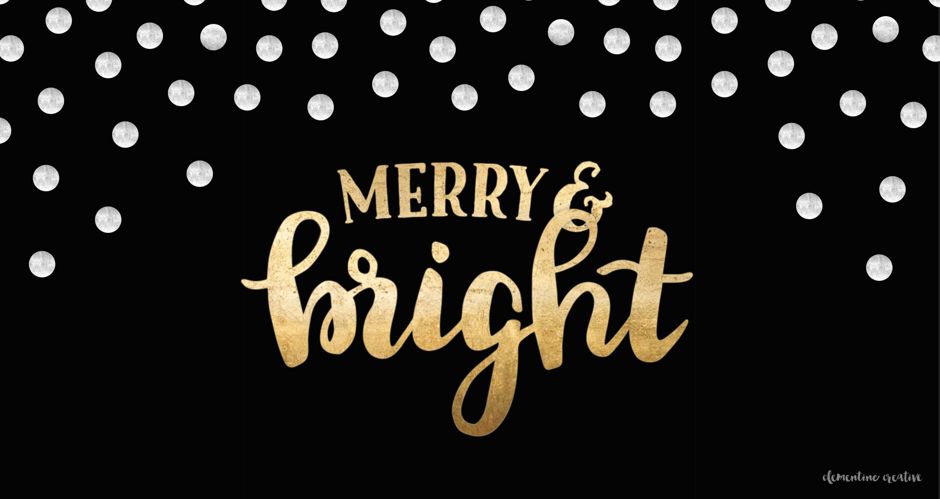 free festive wallpaper: merry and bright - clementine creative