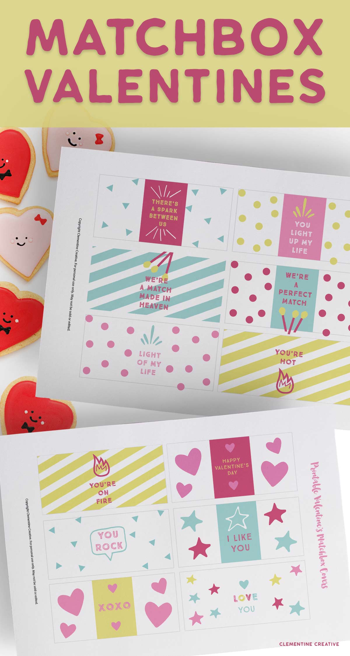 Free Printable Valentine S Day Matchbox Covers