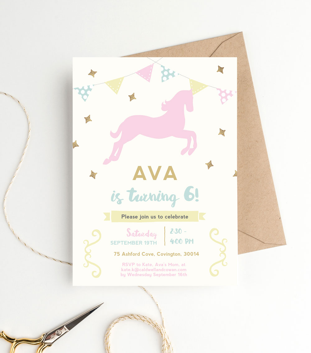 printable-pony-party-invitation-template - Clementine Creative ...