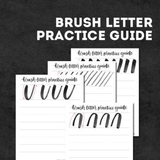 brush letter practice guide