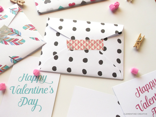 Download These Cute Printable Mini Envelope Templates And Notecards For Valentines
