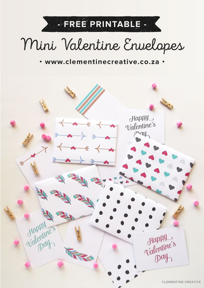 free printable valentine envelopes