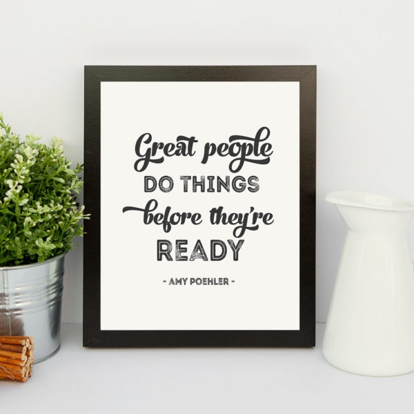 printable inspirational quote by amy poehler