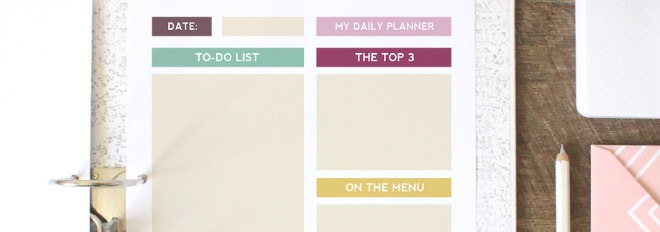 Free Printable Daily Planner Page