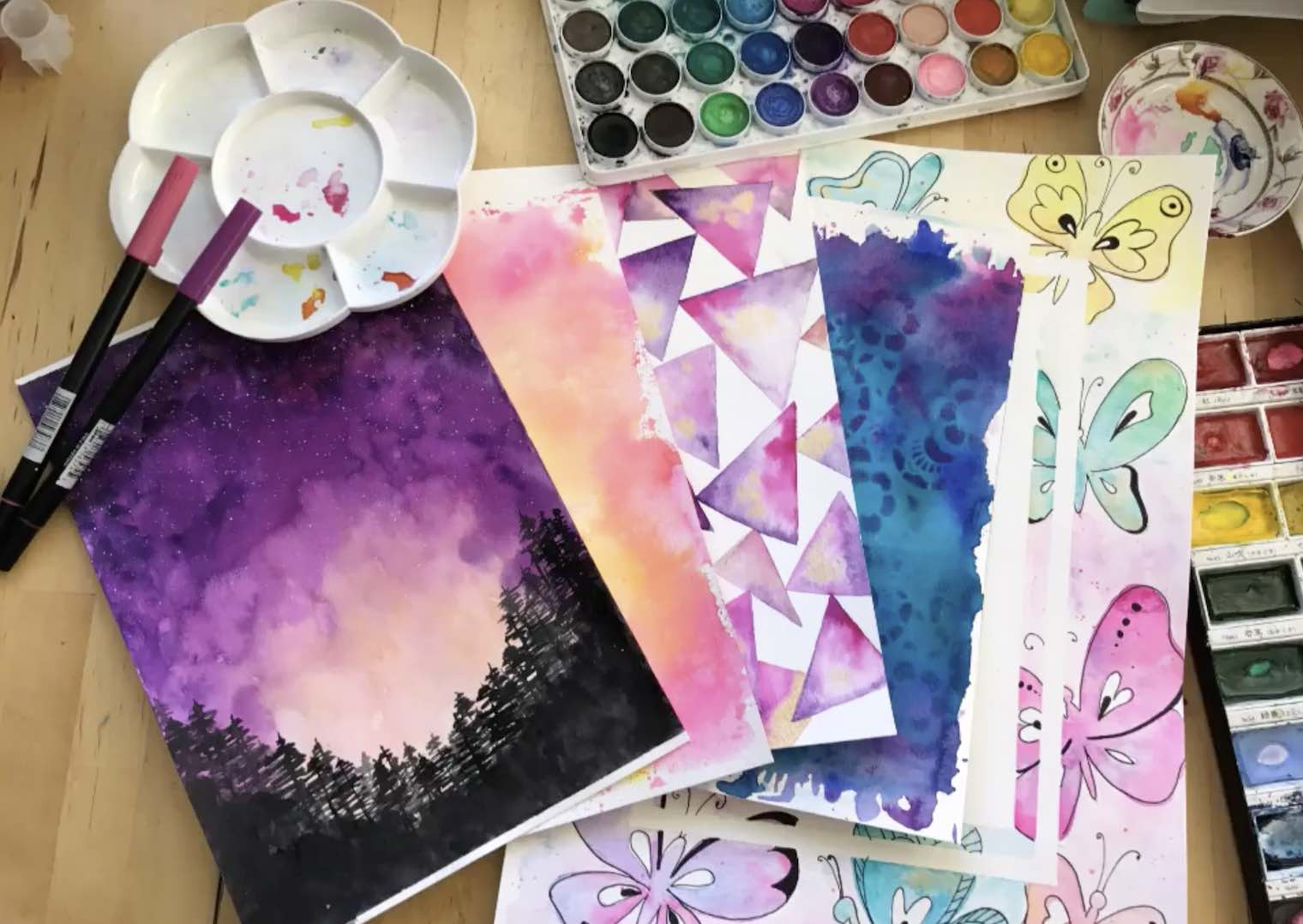 fun and easy watercolor backgrounds