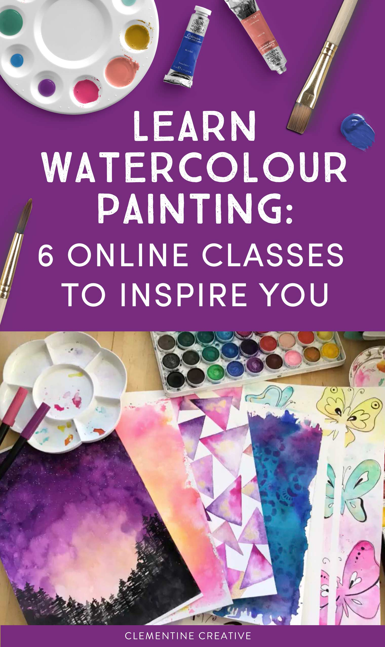 Learn watercolour painting online with these 6 fantastic online classes. These classes are great for beginners and intermediate artists. Go ahead, give it a try!