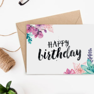 printable birthday card archives  clementine creative  diy, Birthday card