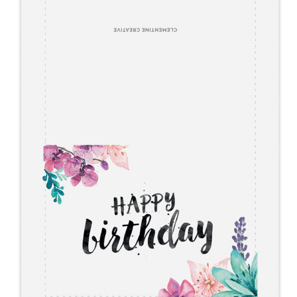Printable Birthday Card for Her – Birthday Card Layout