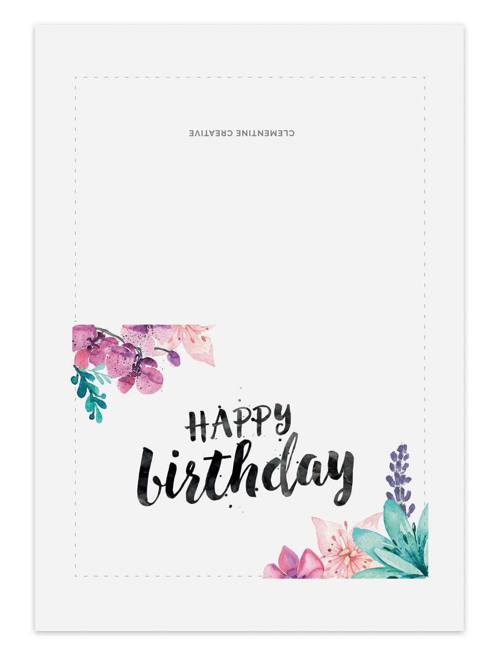 ... Printable Greeting Cards / Printable Birthday Card u2013 Secret Garden