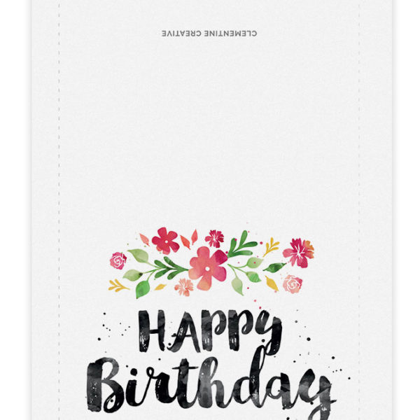 Surprise her with this beautiful spring blossoms birthday card, painted in watercolour. Download the printable here.