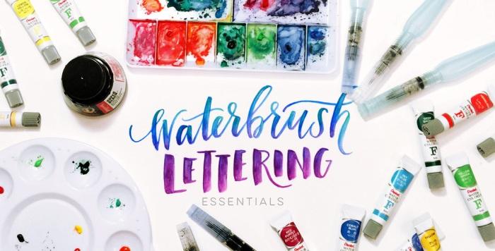 learn waterbrush lettering