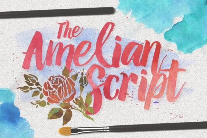 amelian script brush font