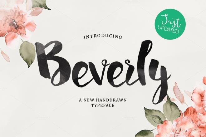 beverly handmade typeface