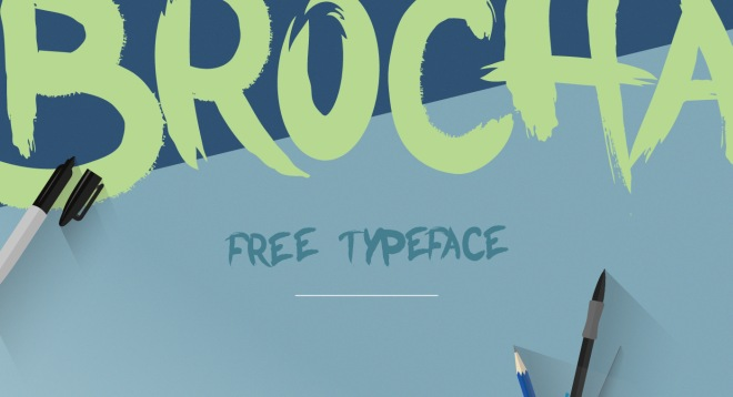 brocha free brush font
