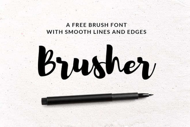 free smooth brush font