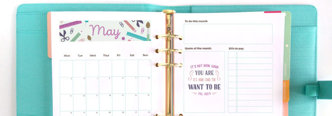May 2016 Printable Monthly Planner