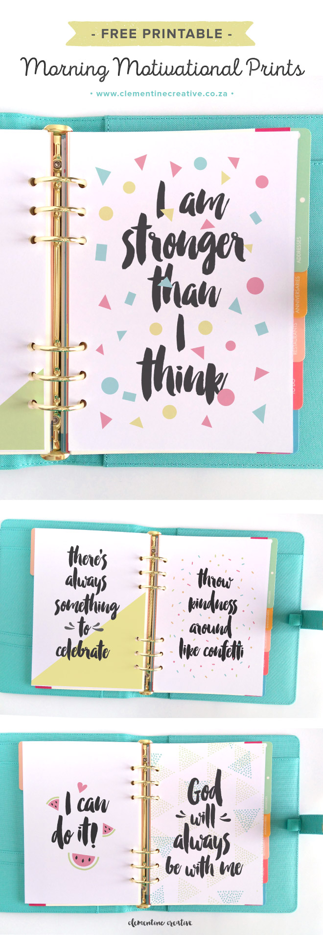 Get motivated in the morning with these free printable for Planner co