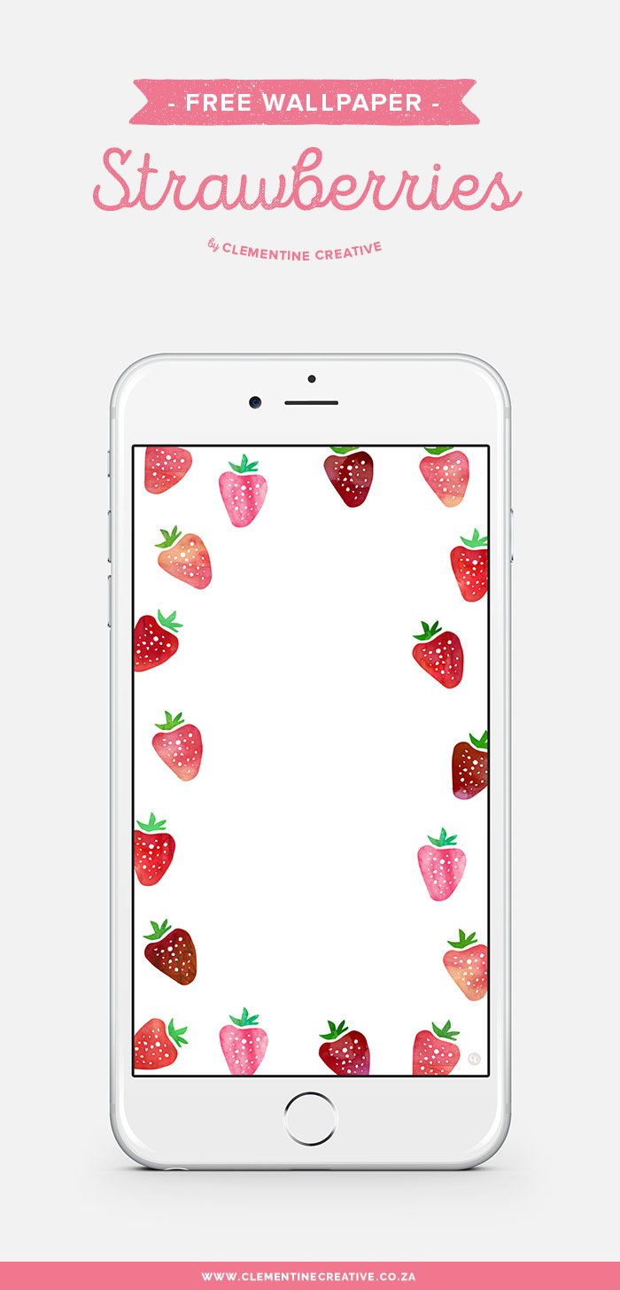 Decorate your desktop, phone or tablet with this free strawberry wallpaper! Download here.