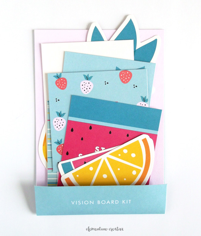 kikki.K watermelon vision board kit