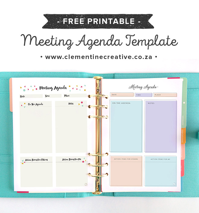 Use A Cute Printable Meeting Agenda Template That Will Keep You