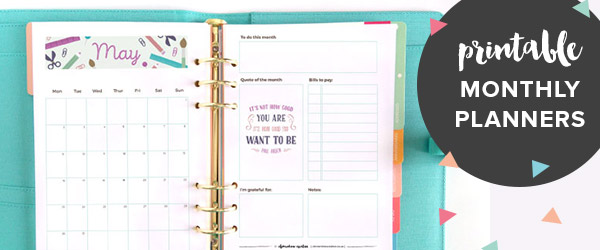April 2017 Free Printable Monthly Planner - Clementine Creative