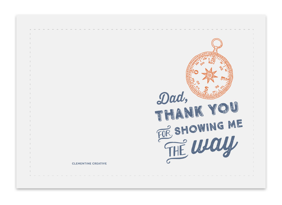 Printable Father's Day Card - Compass