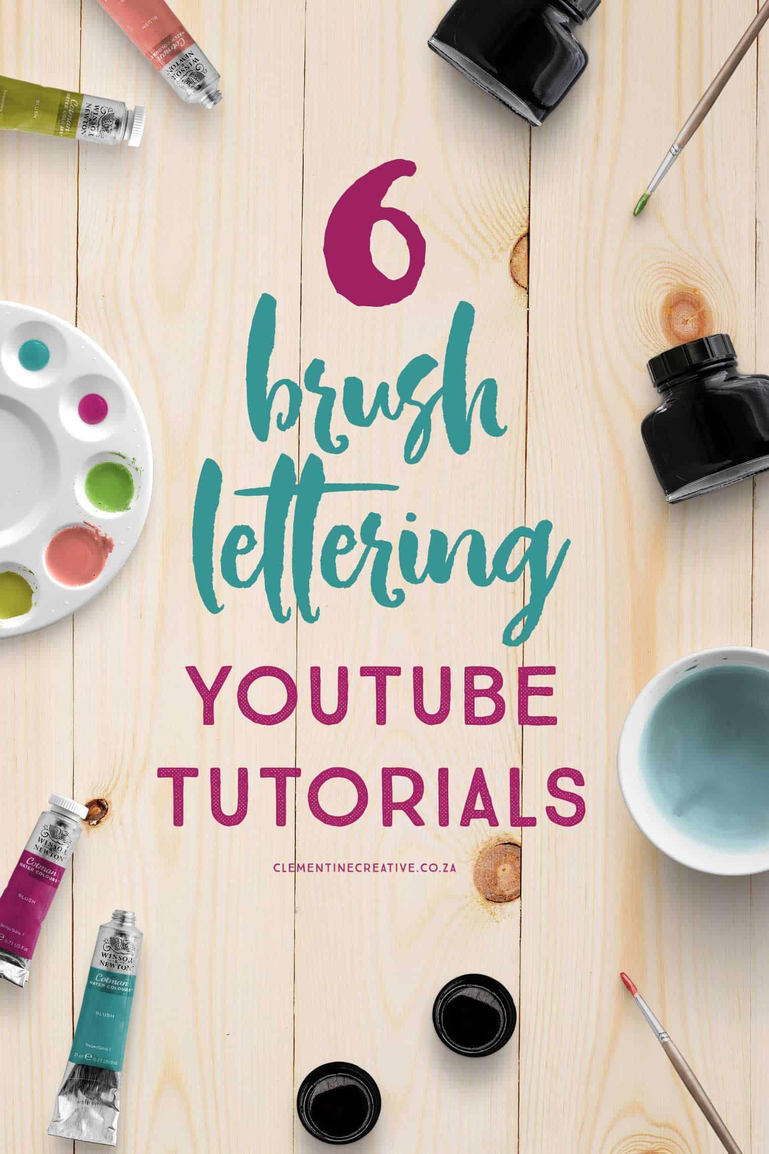 brush lettering video tutorials