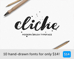 hand drawn font bundle