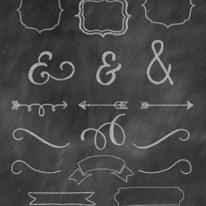 chalkboard clip art for commercial use