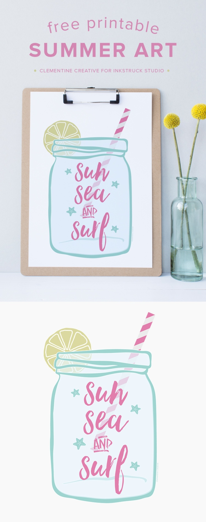 Download this free summer art print here and add summer to your home!
