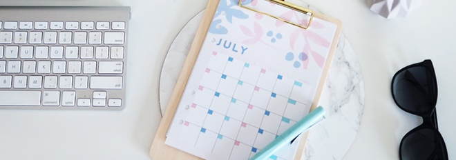 July Planner and Desktop Freebies for Design is Yay