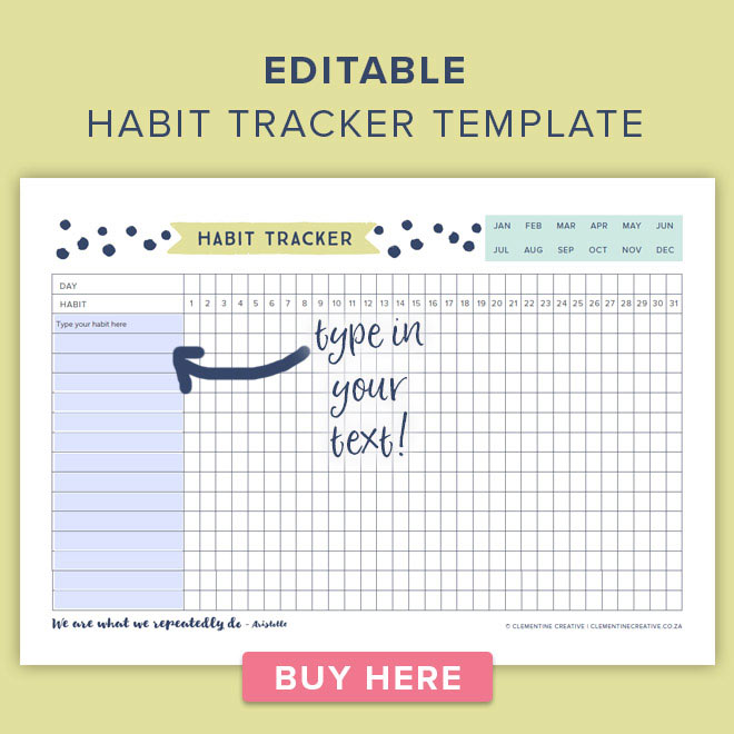 Unforgettable image throughout printable habit tracker