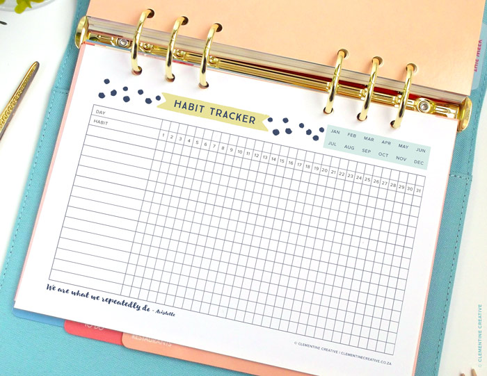 Reach your goals with this free printable daily habit tracker. Use it ...