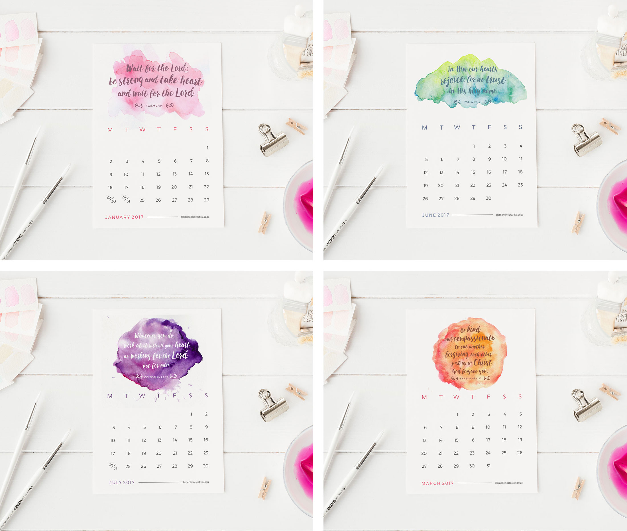 ... Printable Calendars / Printable 2017 Mini Desk Calendar – Bible