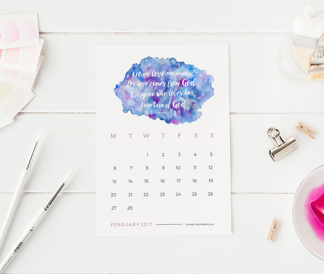 every day with this printable 2017 desk calendar with a new Bible ...