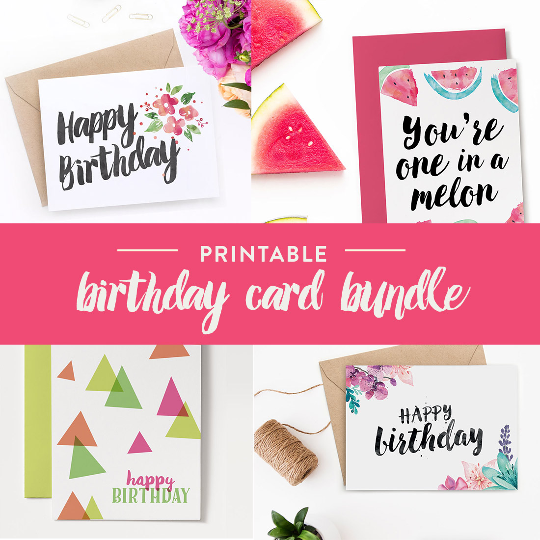 You're Sorted With This Set Of Printable Birthday Cards