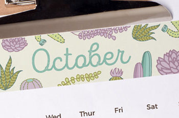 Free Printable October 2016 Monthly Planner