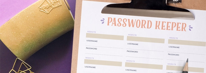Keep Track of your Passwords with This Free Printable ...