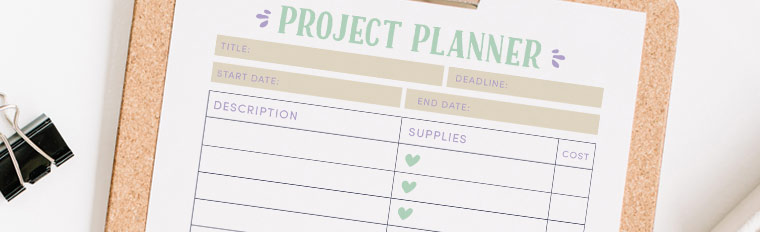 ideas for new projects plan them with this free printable project