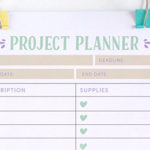 Head Brimming with Ideas? Plan your Projects with this Free Printable Project Planner