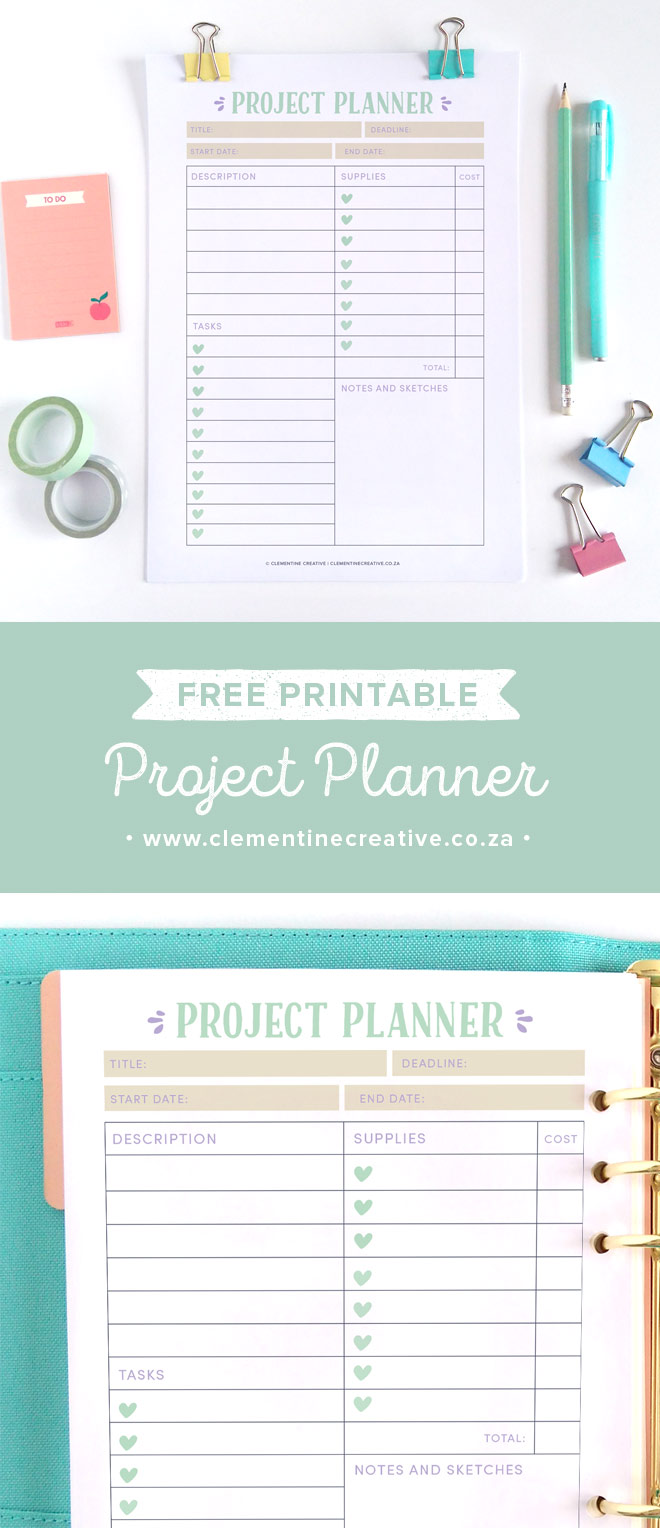 Ideas for New Projects? Plan them with this Free Printable ...