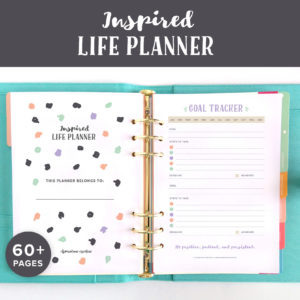 The Inspired Planner includes 60 pages to help get you organised. The pages are undated so that you can use them over and over again. Start printing them out today!
