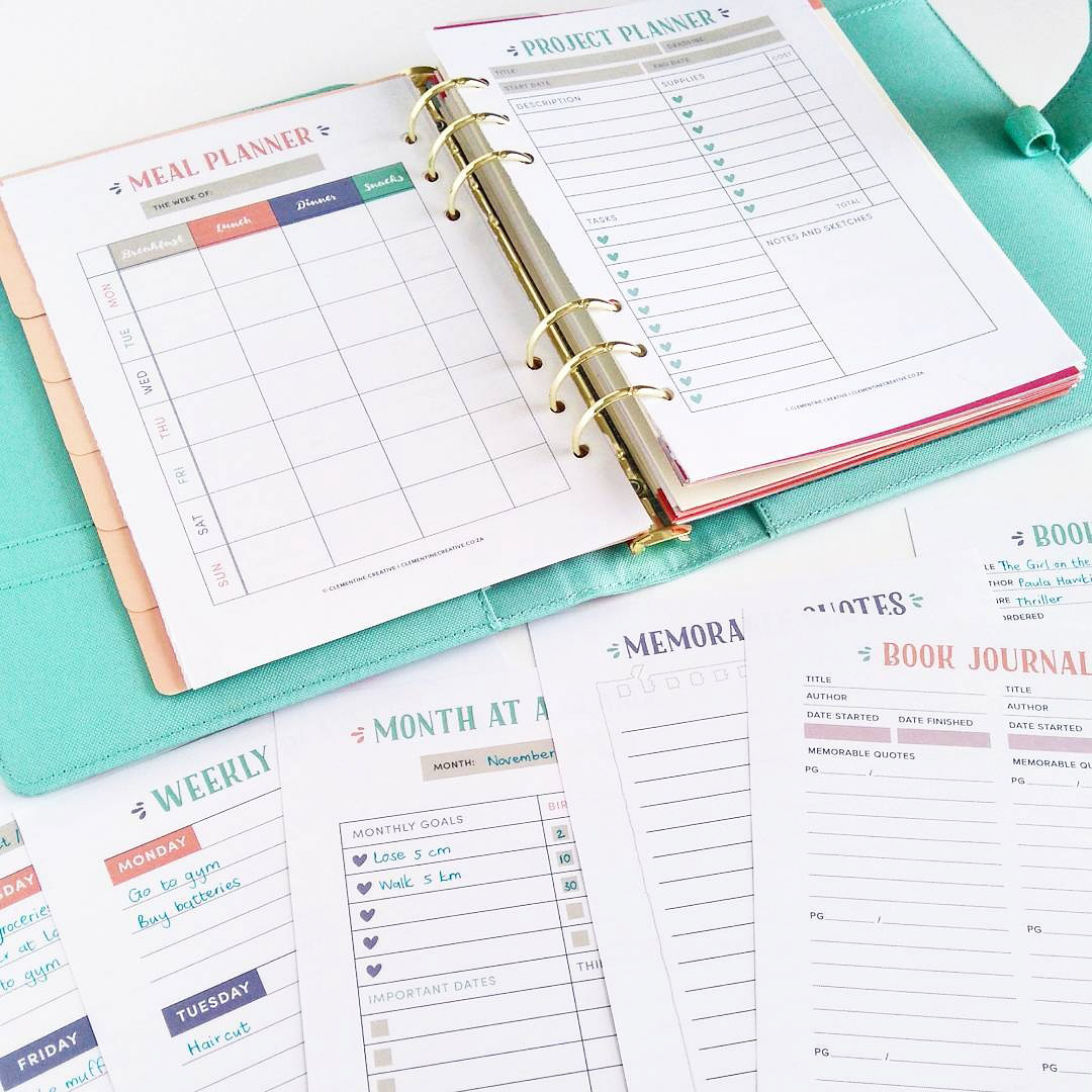 the inspired life planner a pretty printable planner for