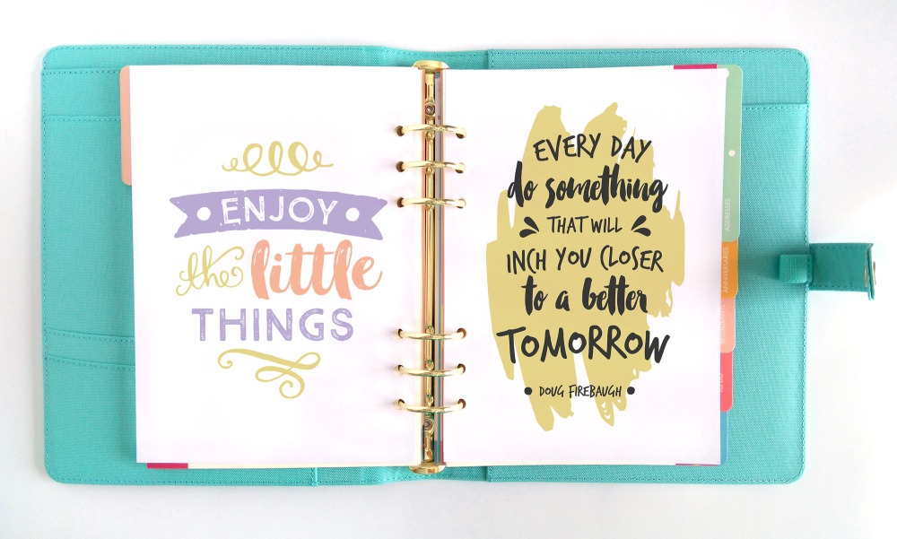 inspirational quotes in the Inspired Life Planner