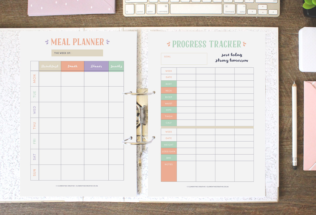 progress tracker and meal planner
