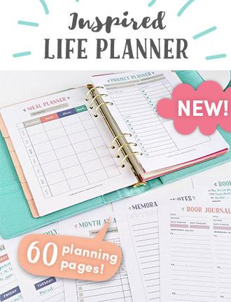 printable life planner kit