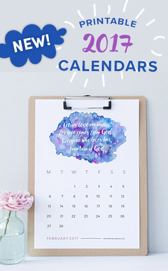 printable 2017 calendars